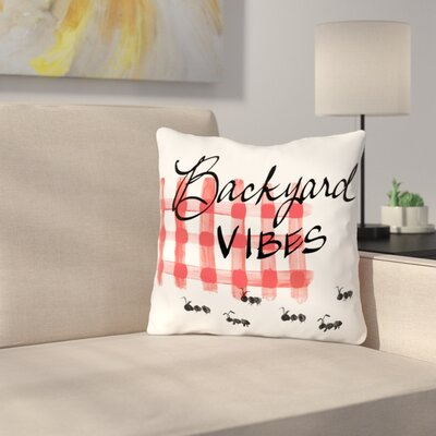 Brinegar Vibes Ants Throw Pillow Size: 18 H x 18 W x 3 D