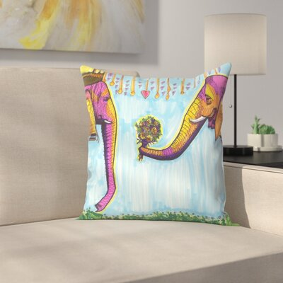 Elephants Throw Pillow Size: 20 x 20