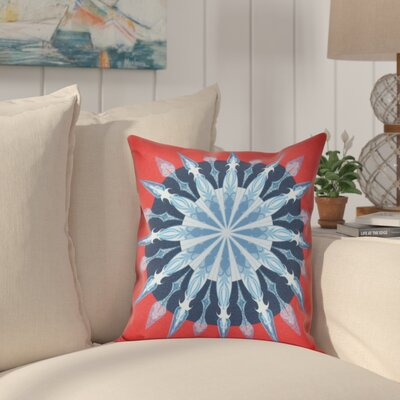 Hancock Sea Wheel Geometric Print Outdoor Throw Pillow Size: 20 H x 20 W, Color: Red