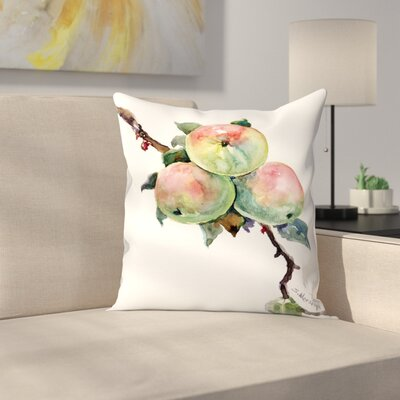 Apples 2 Throw Pillow Size: 18 x 18