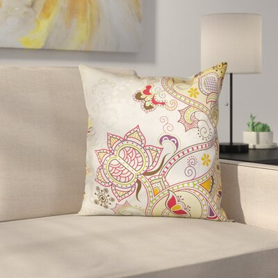 Modern Waterproof Floral Graphic Print Pillow Cover Size: 16
