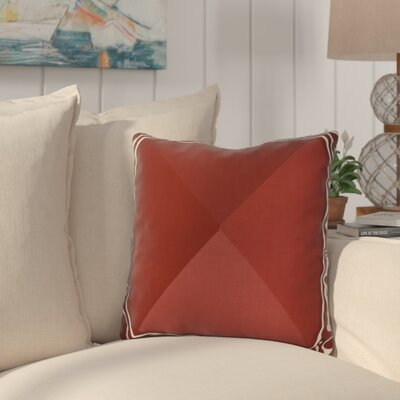 Bartow Nautical Angles Outdoor Throw Pillow Size: 16 H x 16 W x 3 D, Color: Red