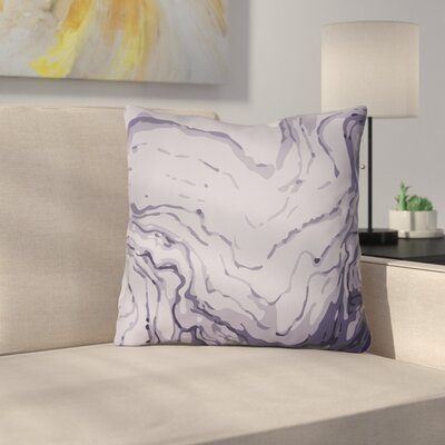 Bernadine Throw Pillow Size: 18 H x 18 W x 4 D, Color: Grey