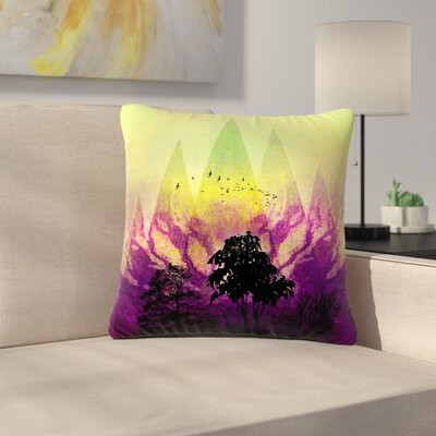 Pia Schneider Trees Under Magic Mountain Outdoor Throw Pillow Size: 18 H x 18 W x 5 D