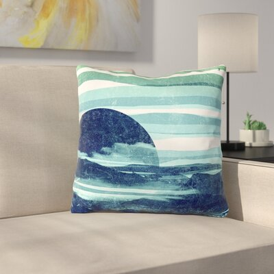 Sea Scape by Frederic Levy-Hadida Throw Pillow Size: 18 H x 18 W x 3 D