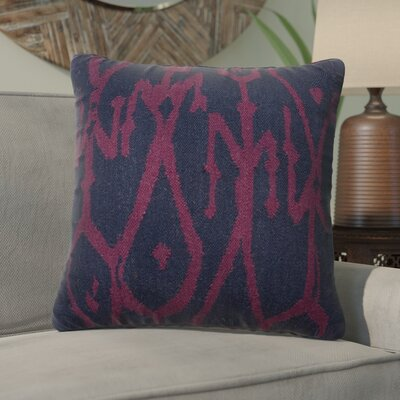 Purti Tribal Pattern Throw Pillow Color: Blue / Purple