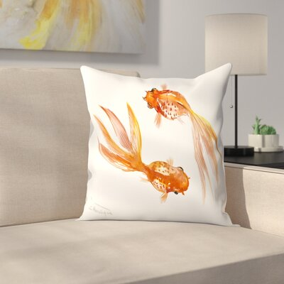 Suren Nersisyan Feng Shui fish Koi 3 Throw Pillow Size: 16 x 16