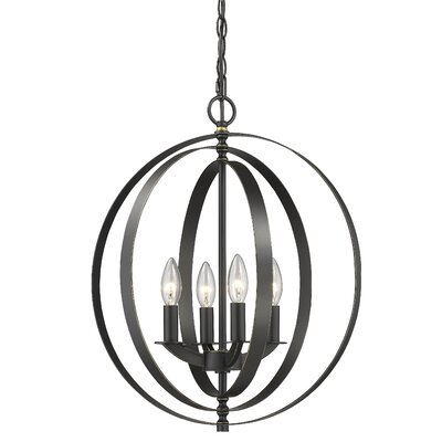 Meisel 4-Light Globe Pendant Finish: Bronze