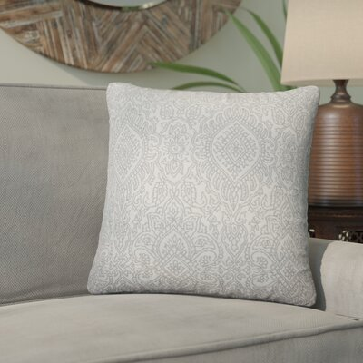 Amina Damask Cotton Throw Pillow Color: Gray