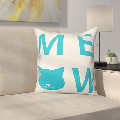 Meow Throw Pillow in , Cover Only Size: 20 x 20