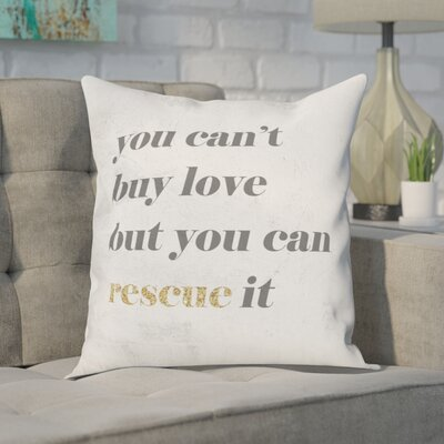 Cici Rescue Love Throw Pillow