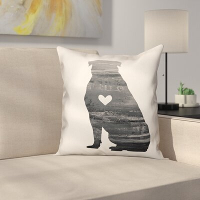 Nunlist Silhouette Rottweiler Throw Pillow in , Cover Only Color: Black/White, Size: 18 x 18