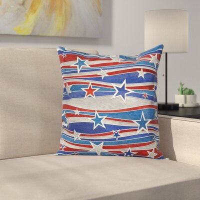 American Abstract Decor Pattern Square Pillow Cover Size: 16