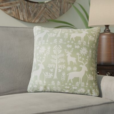 Venito Modern Animal Print Cotton Throw Pillow Color: Green