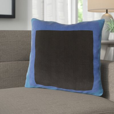 Wales Ii Throw Pillow Size: 20 H x 20 W x 4 D, Color: Cobalt, Filler: Down