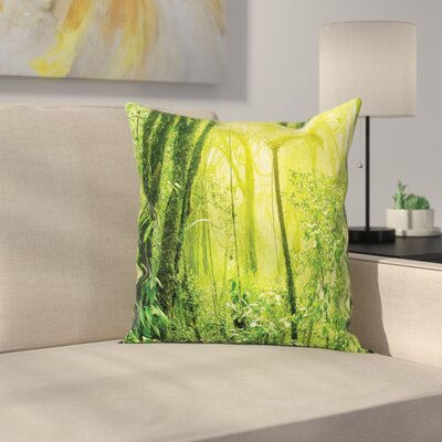 Green Trees Pillow Cover Size: 24 x 24