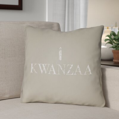Kwanzaa Indoor/Outdoor Throw Pillow Size: 20 H x 20 W x 4 D, Color: Neutral