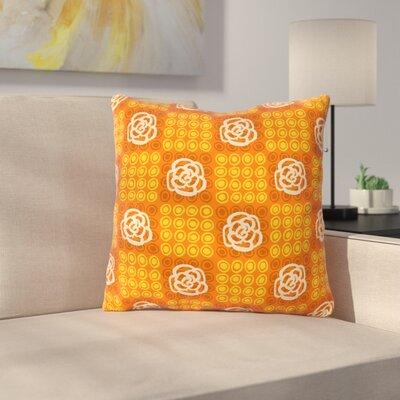 Polka Dot Rose by Jane Smith Throw Pillow Size: 16 H x 16 W