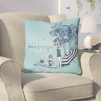 Collie Blue Throw Pillow Size: 20 H x 20 W x 4 D