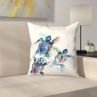 Suren Nersisyan Baby Sea Turtles 3 Throw Pillow Size: 16 x 16