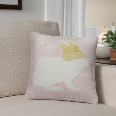 Christmas Bunny Throw Pillow