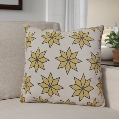 Decorative Holiday Indoor Geometric Print Throw Pillow Size: 16 H x 16 W, Color: Gold
