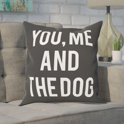 Matson You and Me and the Dog Throw Pillow