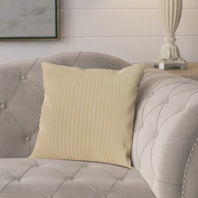 Kaylor Ticking Stripe Indoor/Outdoor Throw Pillow Color: Yellow, Size: 18 x 18