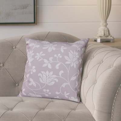 Cecilia Traditional Floral Outdoor Throw Pillow Size: 18 H x 18 W, Color: Lavender