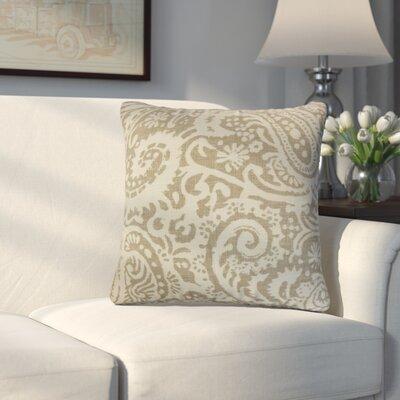 Hudepohl Paisley Throw Pillow Color: Brown