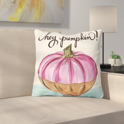 Tedesco Hey Pumpkin Throw Pillow Size: 18 x 18