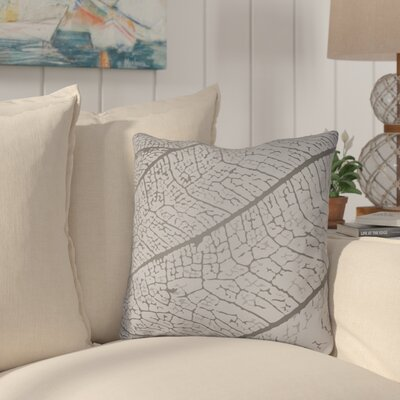 Morrow Throw Pillow Size: 18 H x 18 W x 4 D, Color: Light Grey
