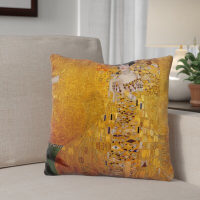 Giorgi Portrait of Adele Bloch Bauer Throw Pillow
