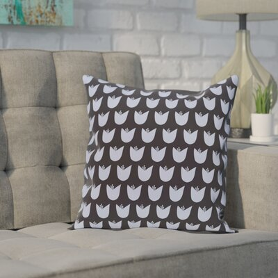Sharrow Throw Pillow Size: 26 H x 26 W, Color: Navy Blue / Blue