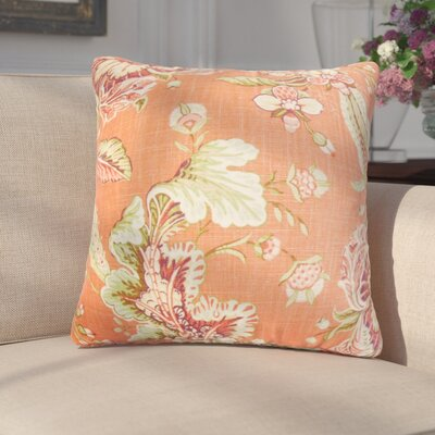 Gofried Floral Throw Pillow Color: Orange