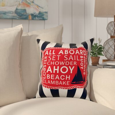 Dilworth All Aboard Stripes Throw Pillow