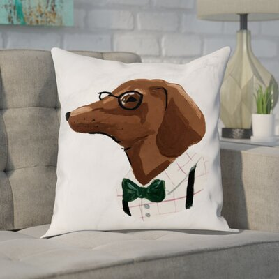 Corkey North Dachshund Throw Pillow