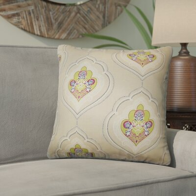 Maricela Floral Cotton Throw Pillow Color: Green