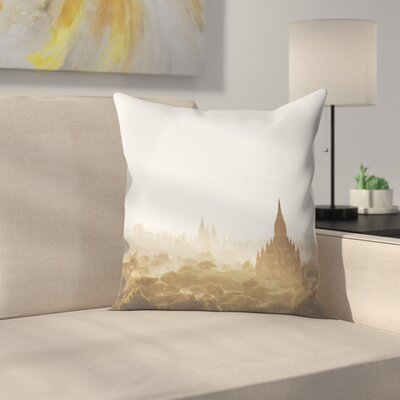 Luke Gram Bagan Myanmar Throw Pillow Size: 18 x 18