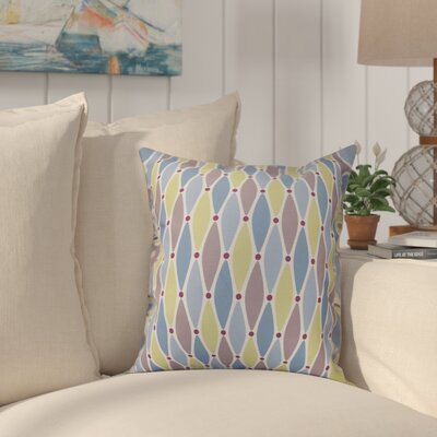 Cedarville Wavy Geometric Print Throw Pillow Size: 16 H x 16 W, Color: Blue