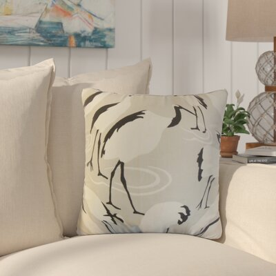 Lafitte Animal Print Cotton Throw Pillow Color: Linen