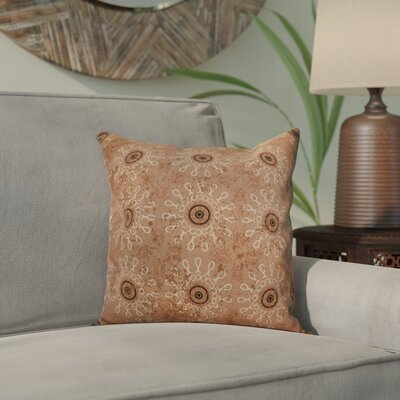 Clarence Geometric Outdoor Throw Pillow Size: 16 H x 16 W x 2 D, Color: Taupe