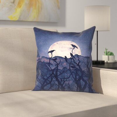 Midnight Chorus Throw Pillow Size: 18 x 18