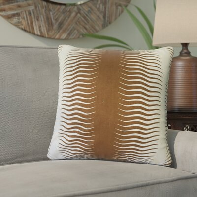 Ursina Geometric Down Filled 100% Cotton Throw Pillow Size: 18 x 18, Color: Bronze