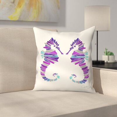 Seahorses Throw Pillow Size: 14 x 14