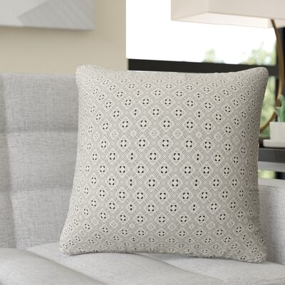 Ravello Throw Pillow Color: Black/Tan, Size: 18 H x 18 W