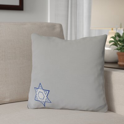 Stars Corner Geometric Print Outdoor Throw Pillow Size: 18 H x 18 W, Color: Gray