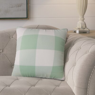 Ronzi Plaid Down Filled 100% Cotton Throw Pillow Size: 18 x 18, Color: Aqua
