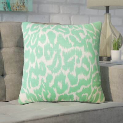 Wetzler Ikat Down Filled Linen Throw Pillow Size: 24 x 24, Color: Jade