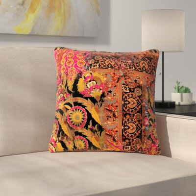 Victoria Krupp Global Patchwork Digital Outdoor Throw Pillow Size: 18 H x 18 W x 5 D